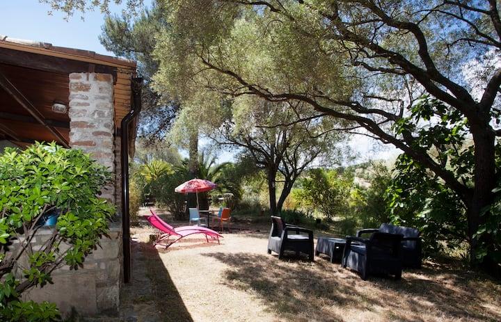 Corsica villa St Florent 2-8 people