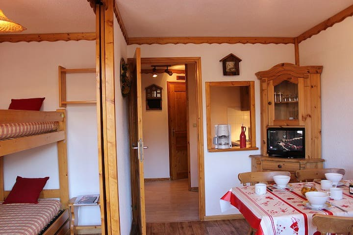 VAL THORENS COMFORTABLE 2 ROOMS 4 PEOPLE CLOSE TO ALL FACILITIES