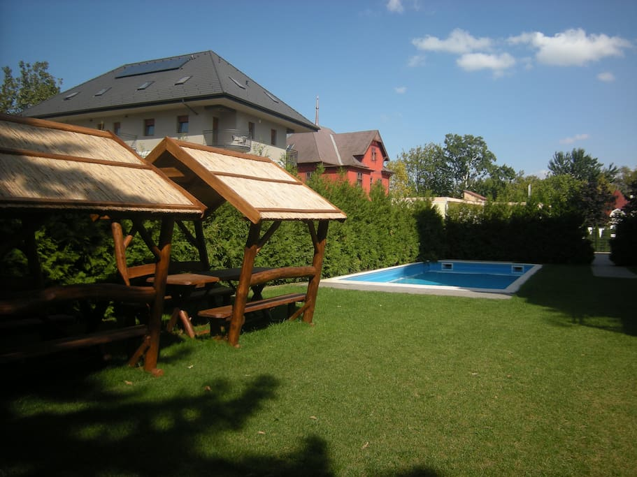 Garden with the heated pool