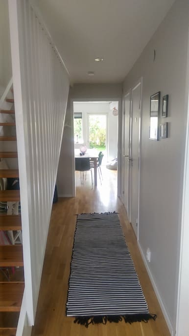 The entrance hallway with stairs to second floor.