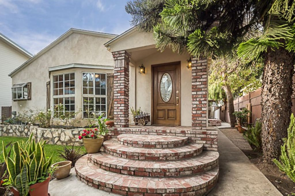 Charming brick entryway
