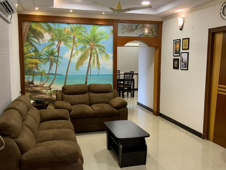 Satya Homes-3BK Apt,near MVP Signal