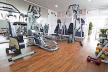 Academia de ginástica. / Gym.