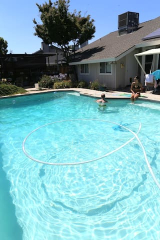 Water temp of pool is very agreeable in summer!