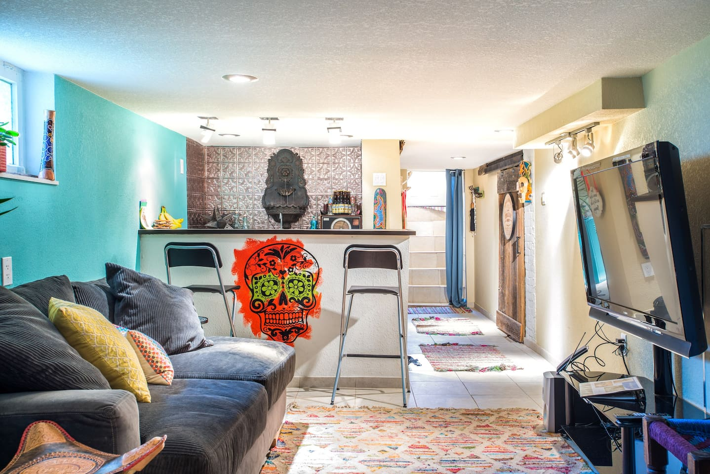 All yours with a private entrance - our remodeled basement apartment