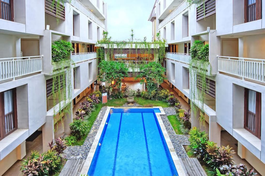 Legian sunset residence cozy loft 2pax appartements for Terrace 8 residence kuta
