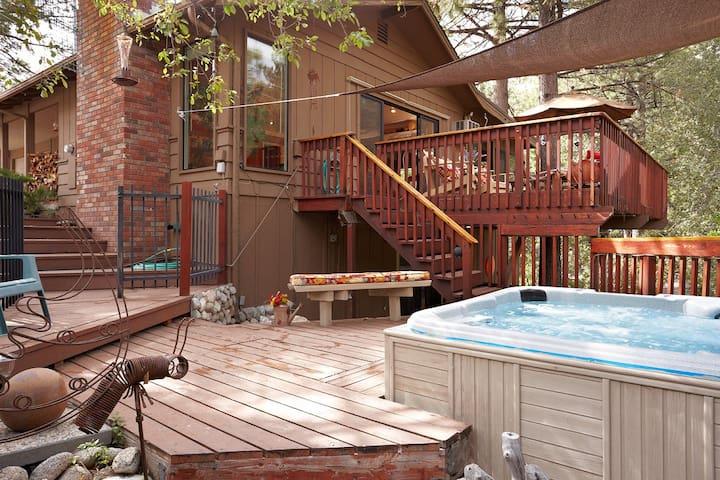 Idyllwild Lodge: Walk to Town/Spa/pets/fenced yard