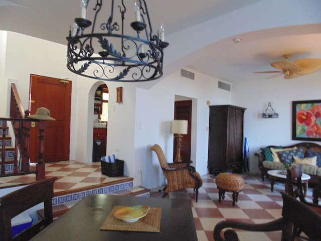 ample living dining area