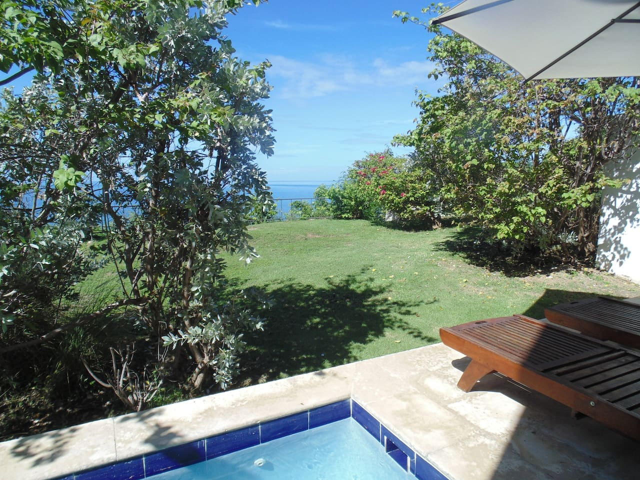 oceanfront view is exclusive and private