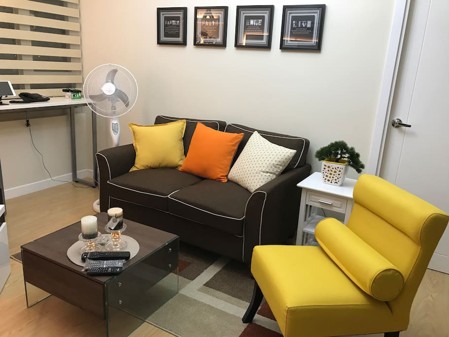 Comfy sofa and matching accent chair