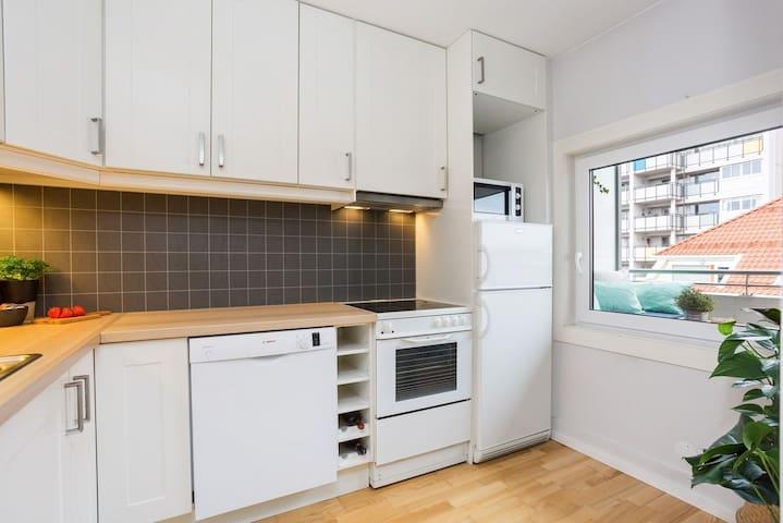 Koselig leilighet i rolig hjørne av kvadraturen