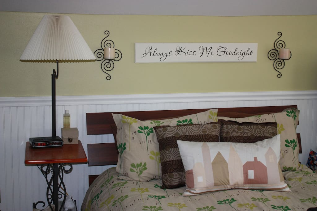 Your extra cozy master bed in the upstairs bedroom.