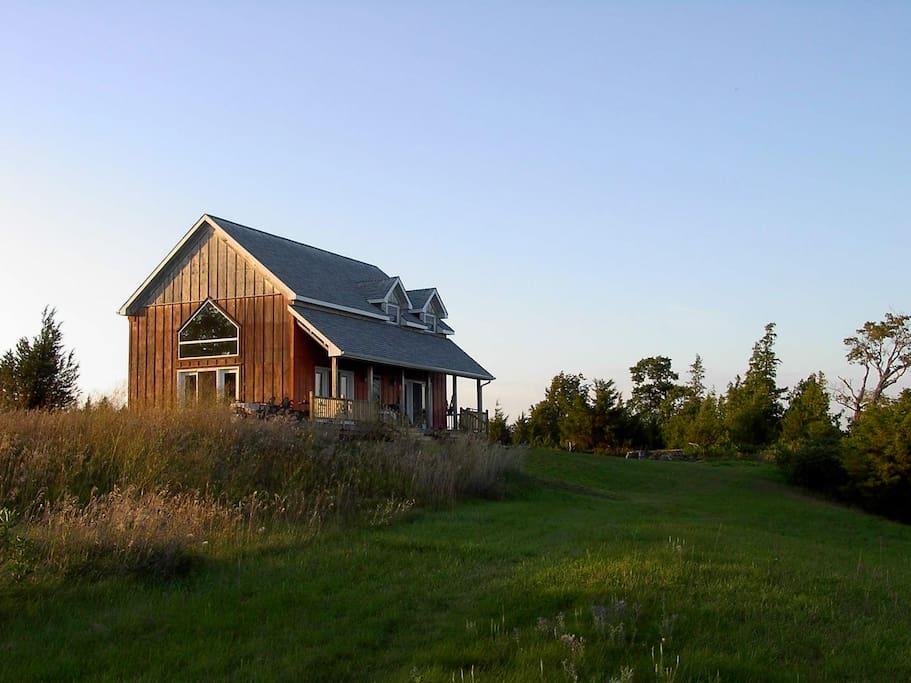 Edgehouse in evening light