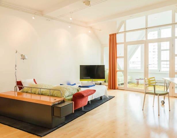 35m2 Zimmer mit Wintergarten