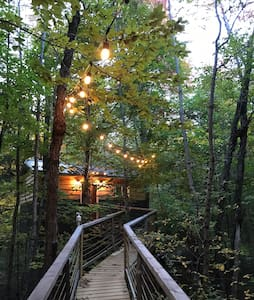 Ash hill treehouse, in the Adirondacks