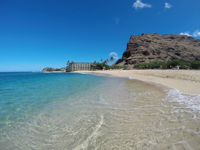 Makaha Shores from the beach
