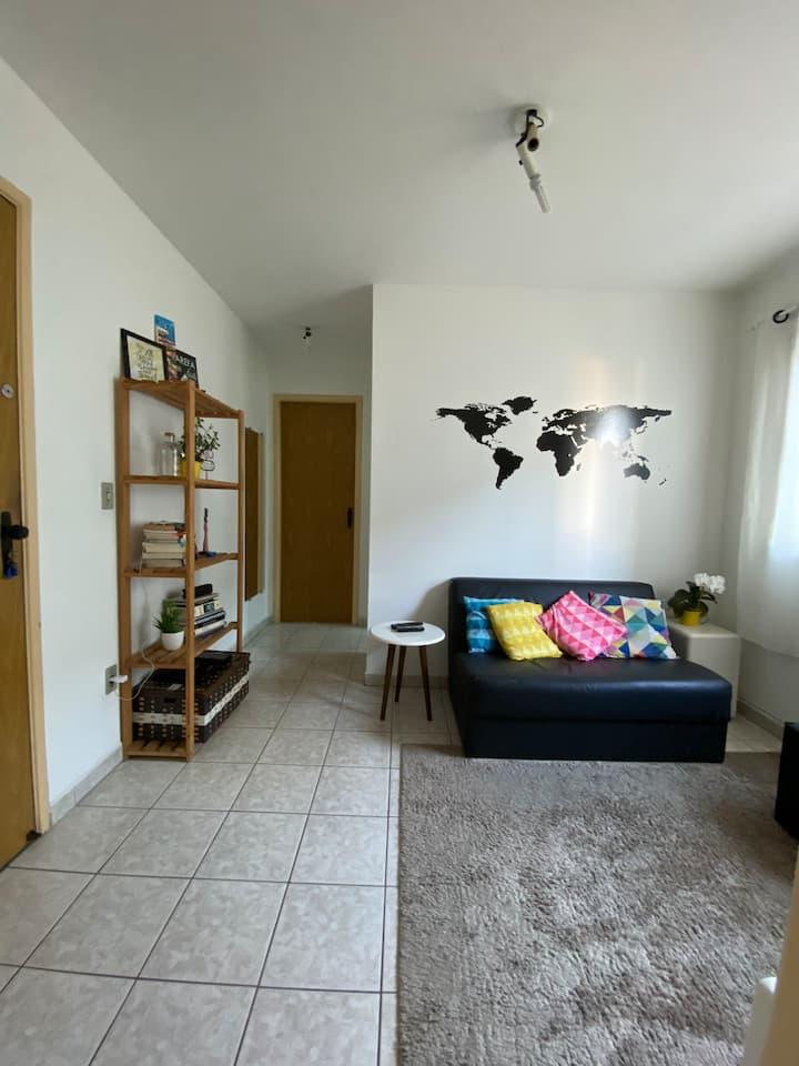 Apartamento 100% mobiliado