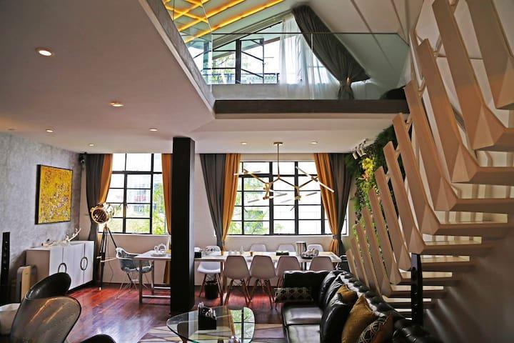 静安寺黄金地段 精致个性聚会派对场地 私人会客厅 复式套房可供拍摄 - Xangai - Apartamento