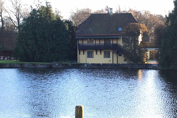 Historisk og romantisk lejlighed tæt på naturen - Glamsbjerg - Departamento
