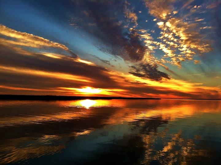 Sunset in Mississippi Sound