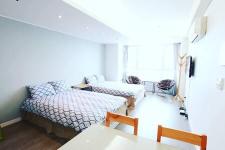 OceanView @ 트윈룸, 2 double beds - 부산광역시