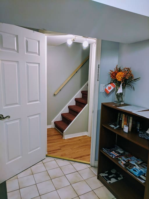Entrance (laundry room is just outside this door).