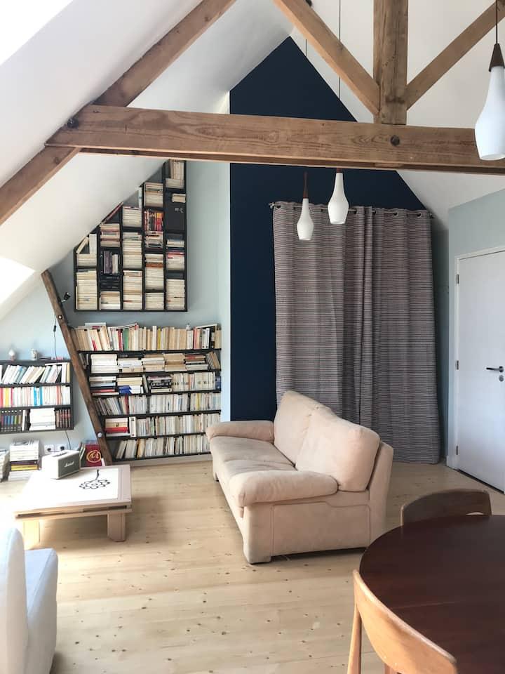 Espace privatif, déco., calme, 55 m²