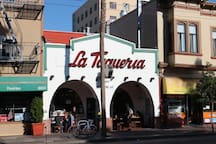 La Taqueria was named Best Burrito in America and is the birthplace of the Mission-style Burrito. It's a 5 minute walk away!