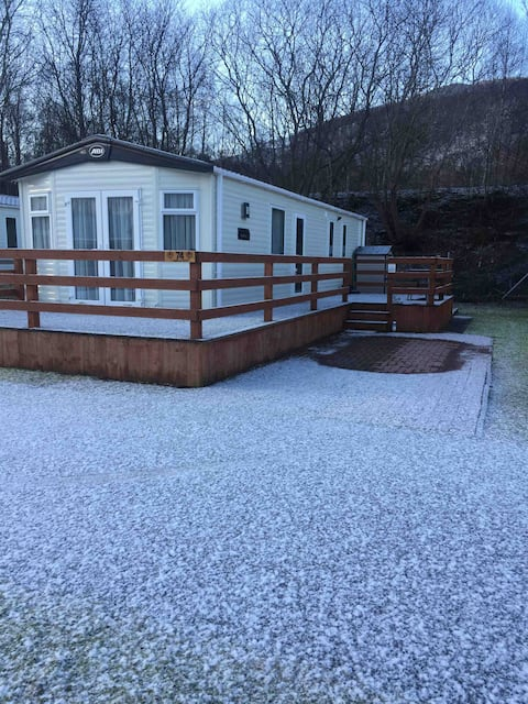 New modern chalet, Avimore holiday park.