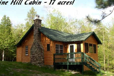 Cozy Cabin with fireplace-17 acres  - Wilmington - Huis