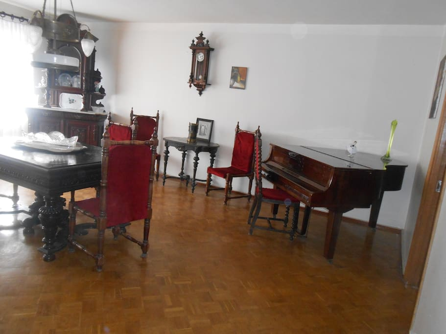 living-room with a grand piano