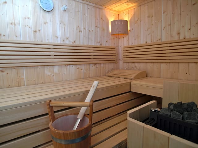 Wellness-Apartment mit Sauna