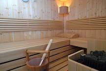 Wellness-Apartment mit Sauna