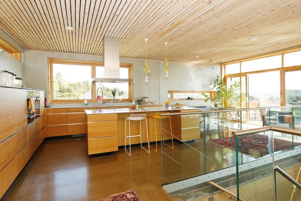 Open space kitchen with terrace