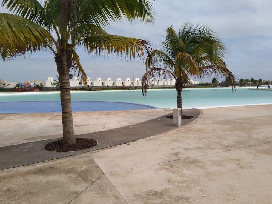 Bonita casa de vacaciones en veracruz casas en alquiler for Construir laguna artificial