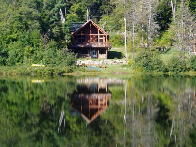 New Lakefront Log Home