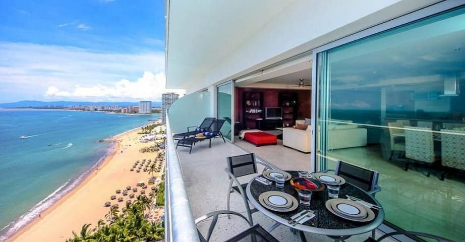 Wide Balcony with amazing views