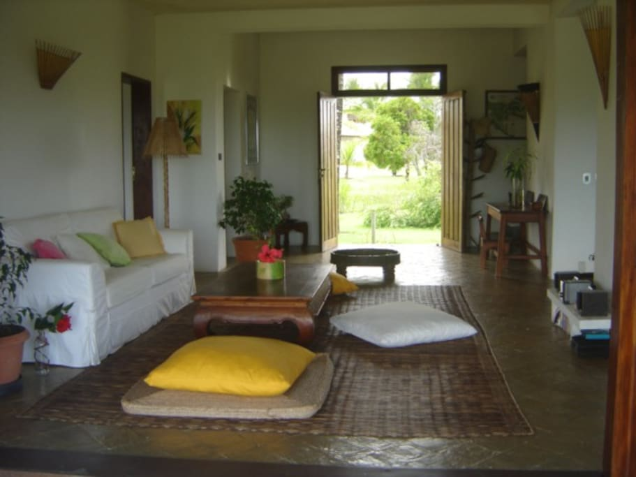 Living room , view to garden from one side, to sea from the other :)