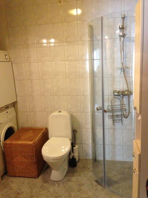Bathroom . Washing machine and dryer
