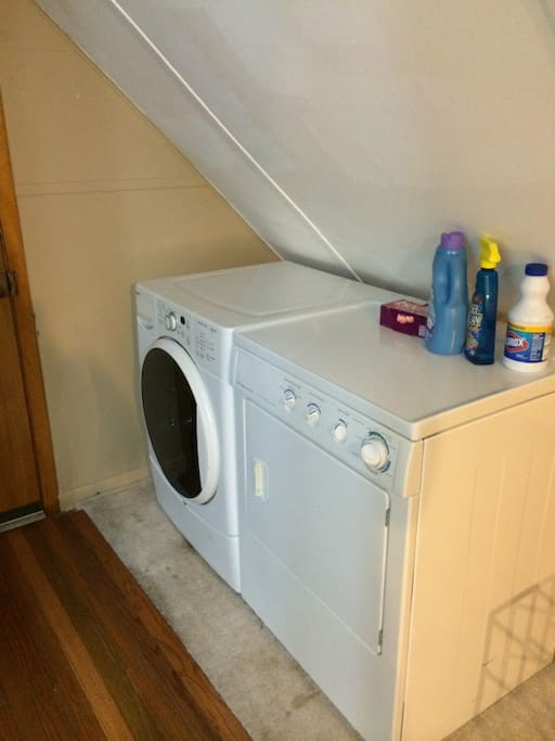 High Efficiency Washer/Dryer including Laundry Supplies (Older Image, a New Washer was Recently Installed)