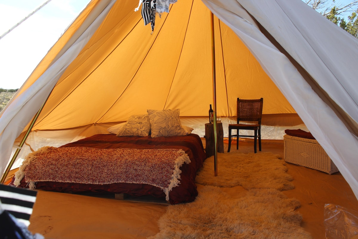 ... Bell tents with a real mattress & Comfortable Camping Tent #1 near Grand Canyon - Tents for Rent in ...