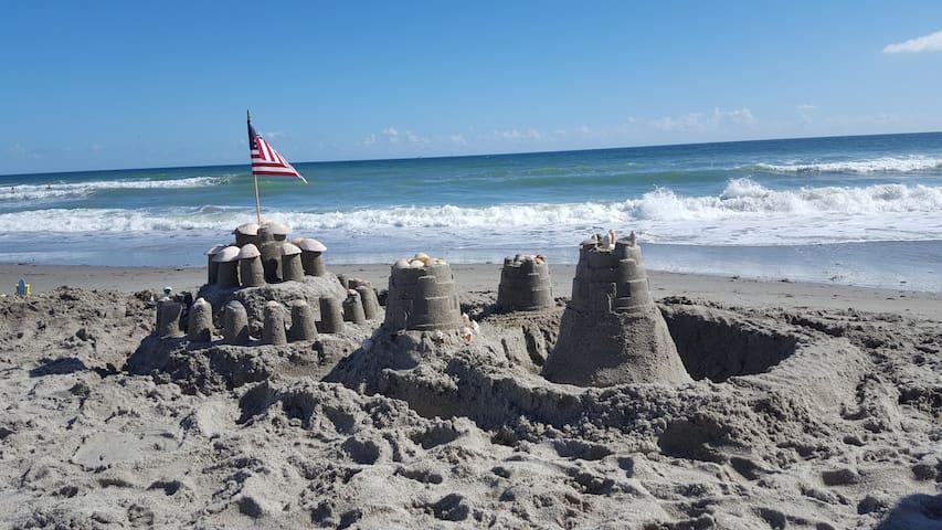 Build a sandcastle.