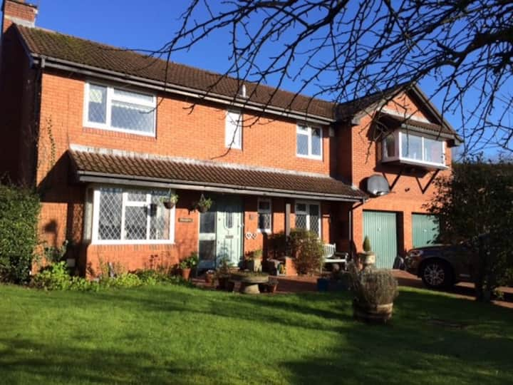 Large detached house and garden