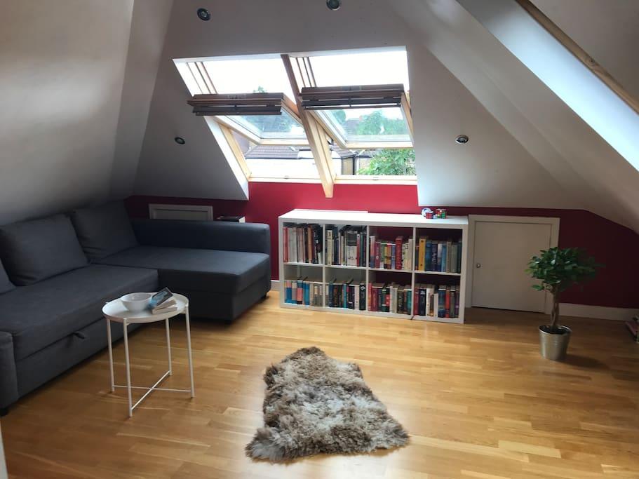 Sitting room area of loft room
