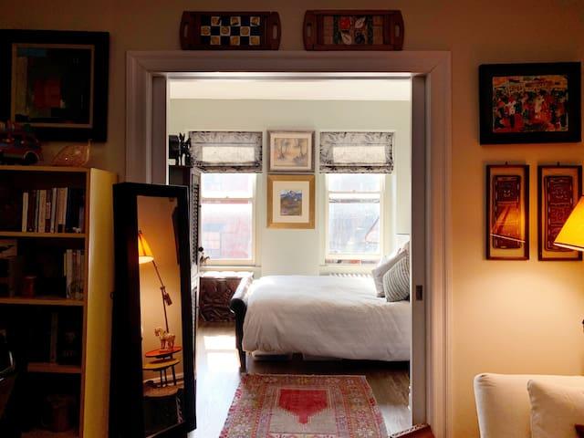 Bedroom, facing South...