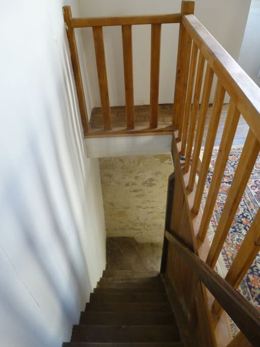 stairs down to kitchen ( quite steep )
