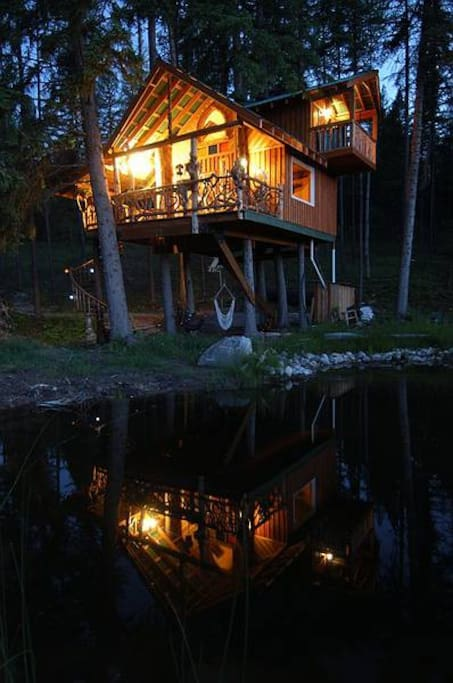 Tree House at dusk