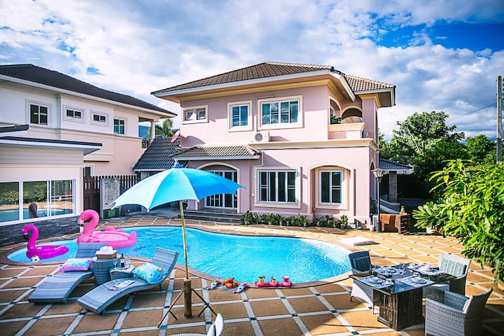 stylish villa with pool, gym and chartered drive