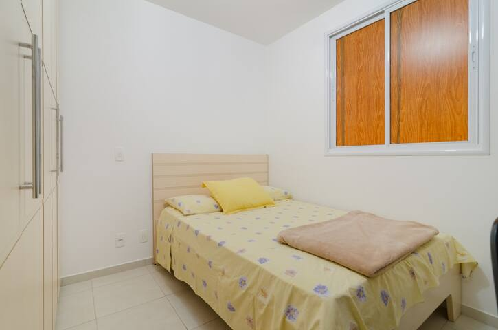 Room with shared bathroom