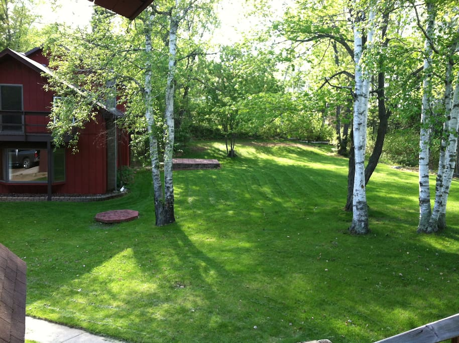 View across yard to main house (from apt deck).